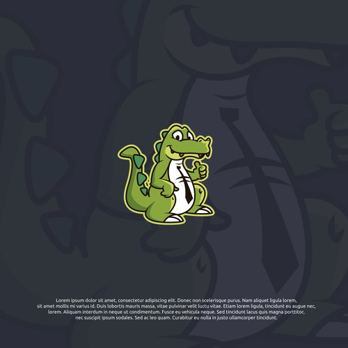 Logo concept for Crocodile mascot