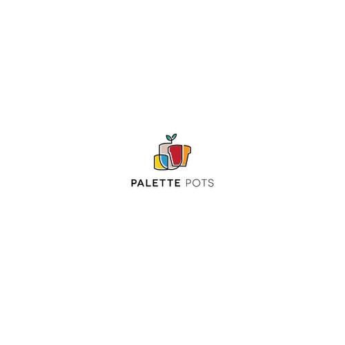 Logo design for Palette Pots