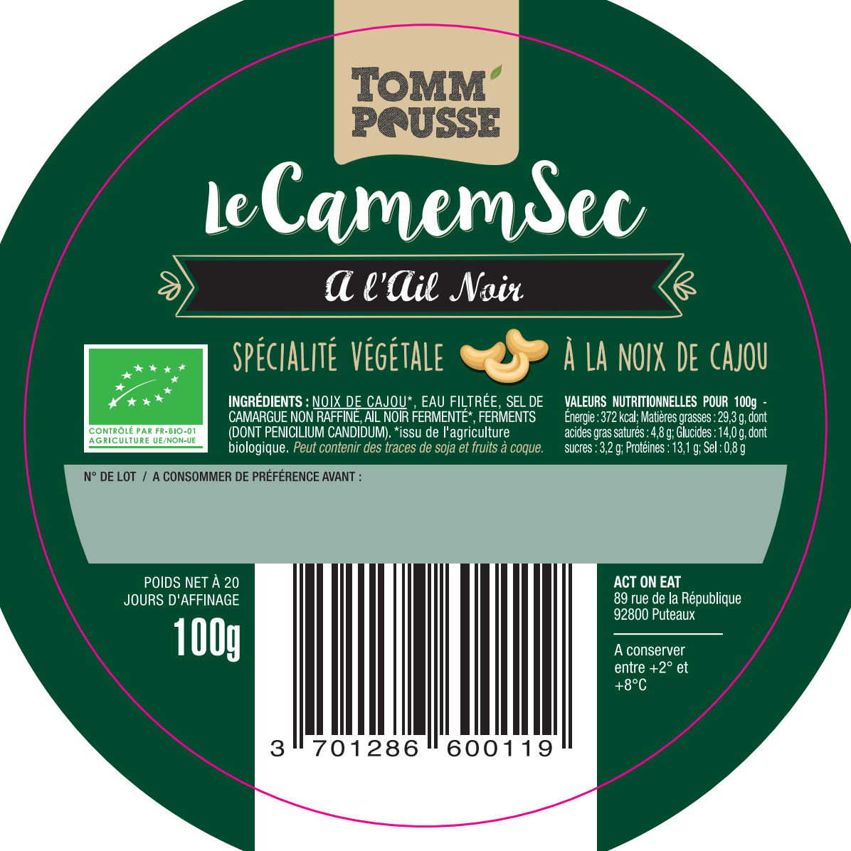 Labels for CamemSec and Le Rouillé (Stickers)