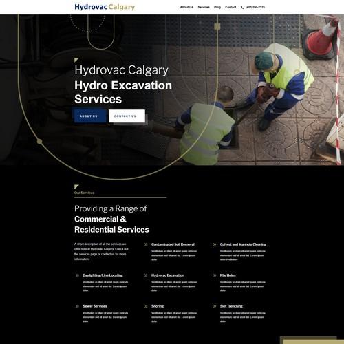 Hydrovac Landing Page