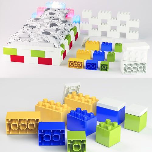 3D Lego brick design