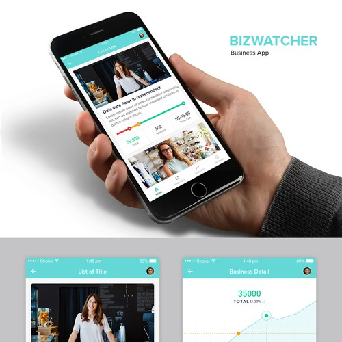 Bizwatcher Business App Design