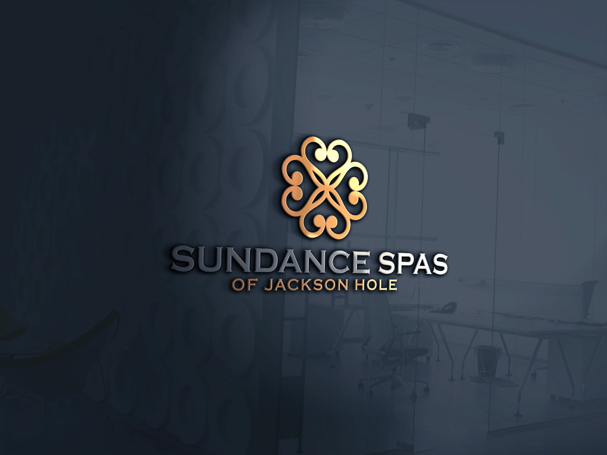 Logo design for a high end hot tub and spa company in Jackson Hole Wyoming
