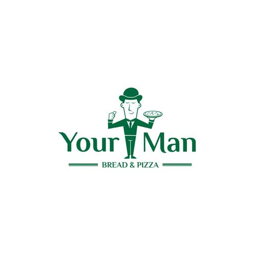 your man logo concept