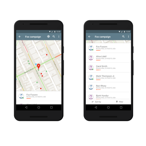 Android app for canvassing