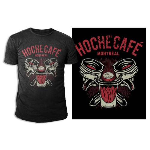 Create a unique t-shirt for Hoche Café in Montréal