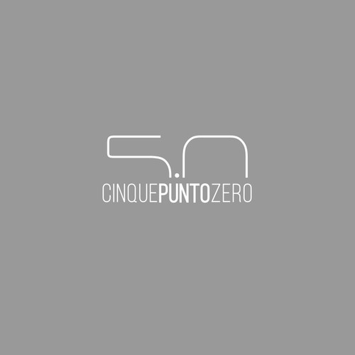Simple logo for modern house furniture: cinquepuntozero