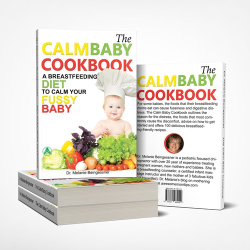 The calm baby cookbook - booc cover design