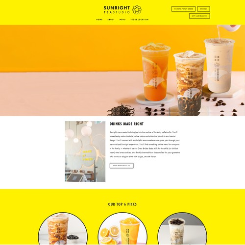 Website Design for Sunright Tea Studio