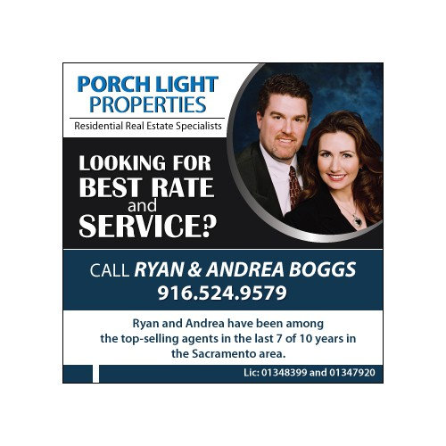 New postcard or flyer wanted for Porch Light Properties