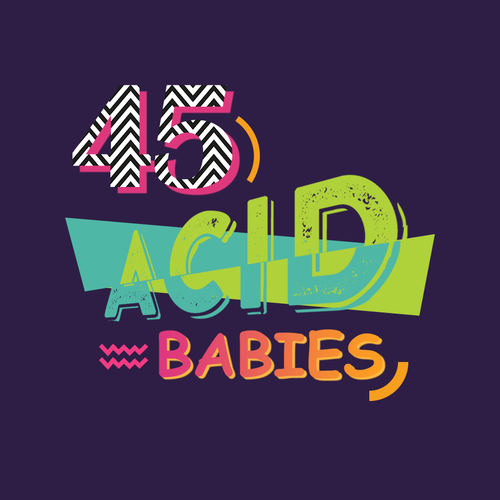 Bold logo for 90s band
