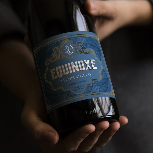 Wine label design for Equinoxe