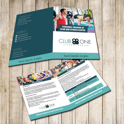 A4 bi fold brochure