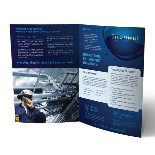 Brochure for Threshold Land Services