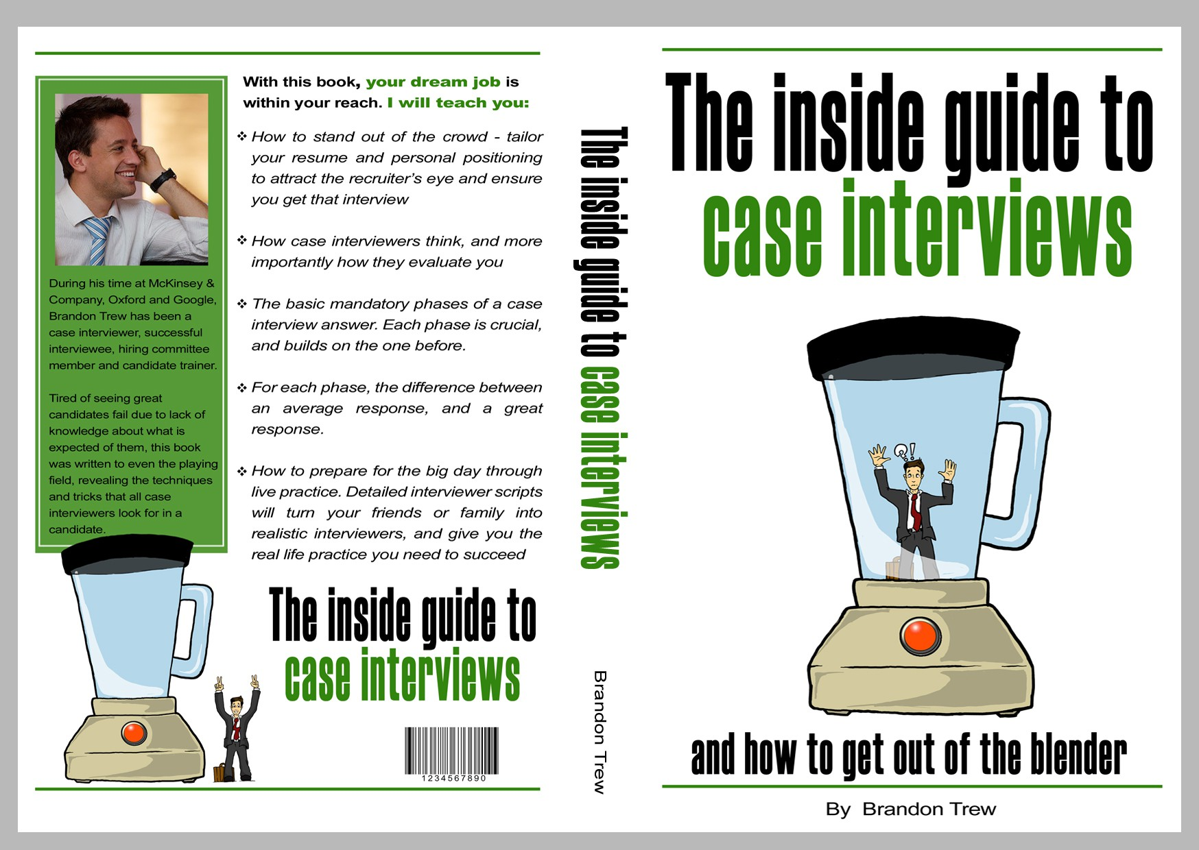 Cover design for a Case Interview book