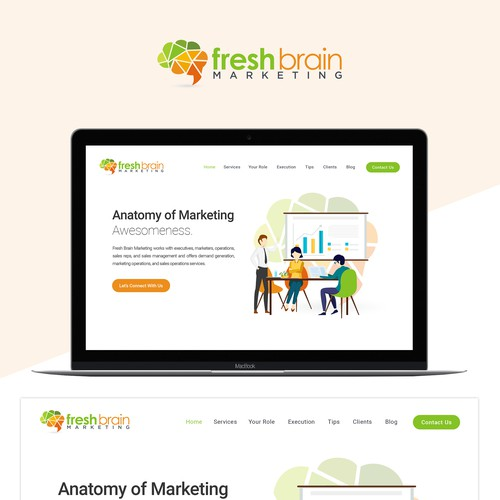 Fresh Brain Marketing Website Design