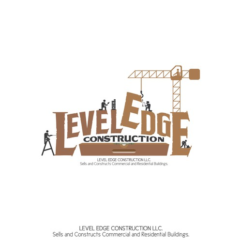 Re-create logo for Level Edge Construction.