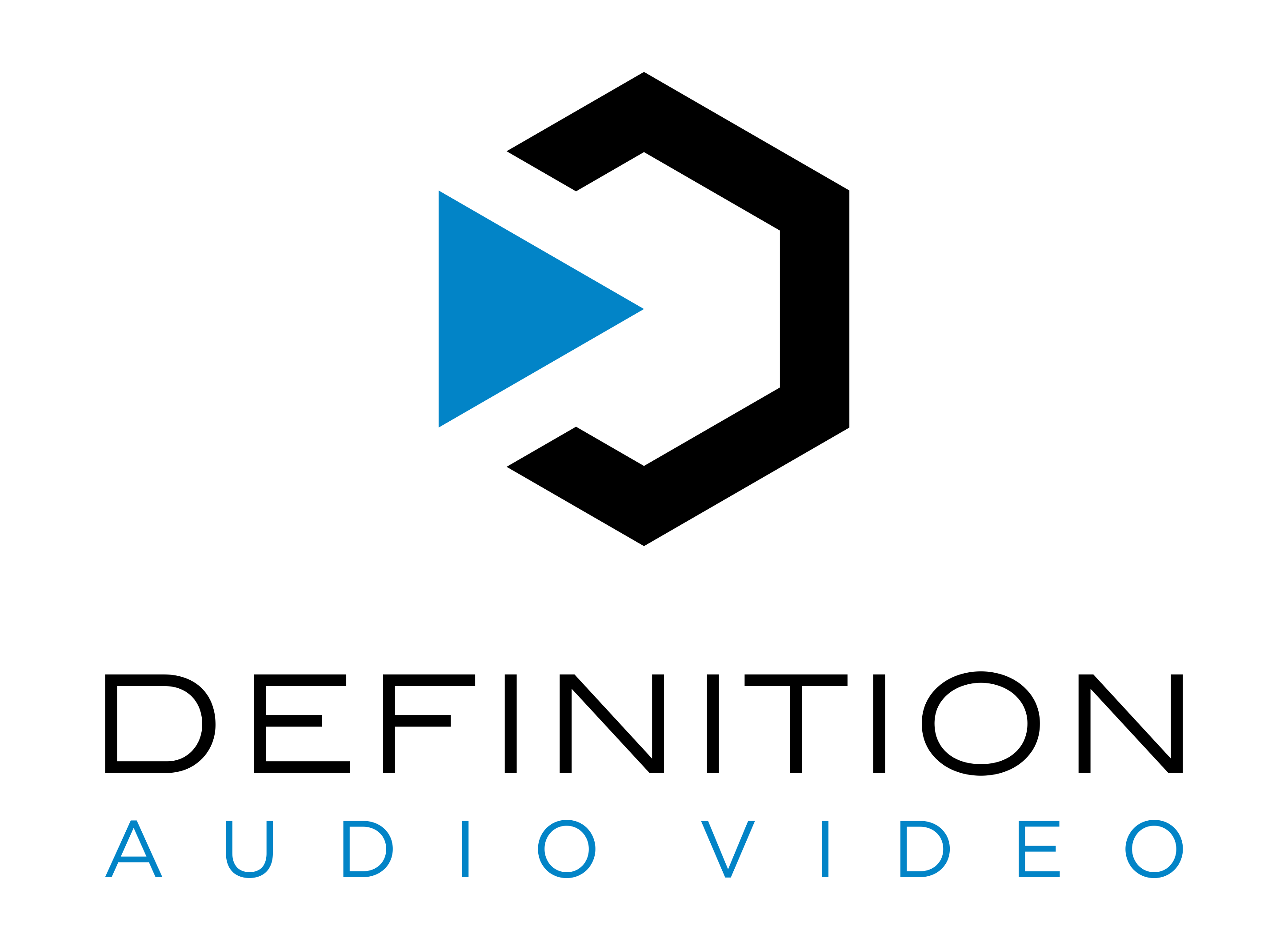 Cool Simple modern logo for Audio Video Design