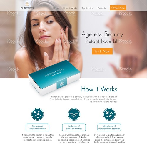 New Instant Lift Beauty Landing Page