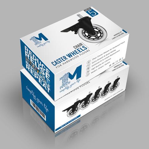 Caster Wheel box design