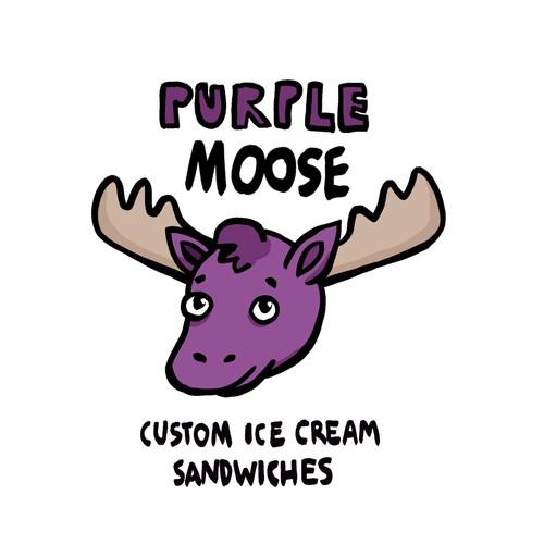 Cute logo for an ice cream sandwich shop