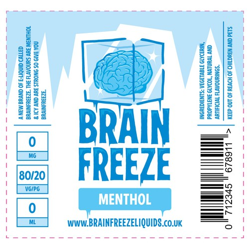 Logo and Label design for Brain Freeze E-Liquid