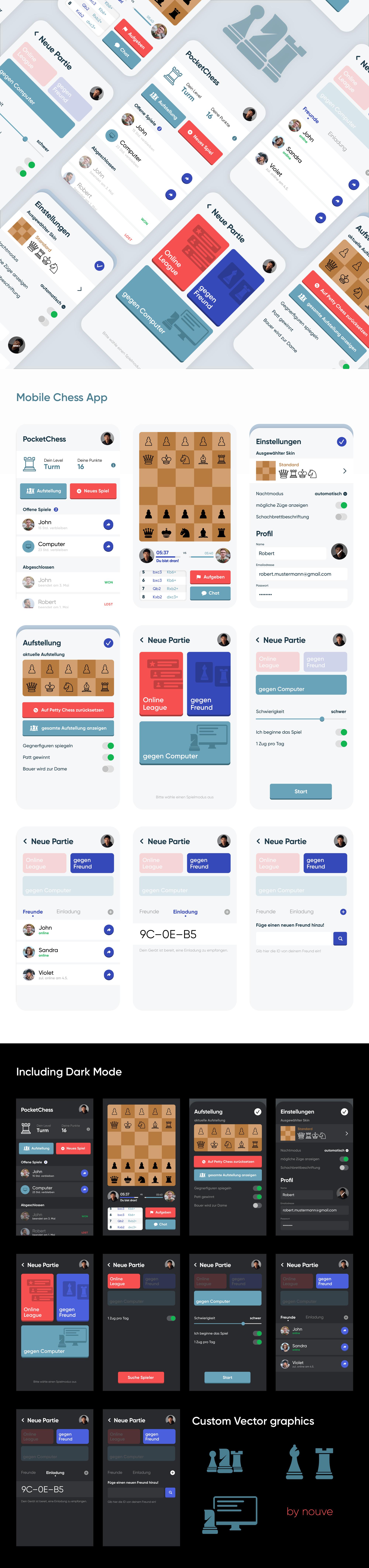 Chess Minigame App design