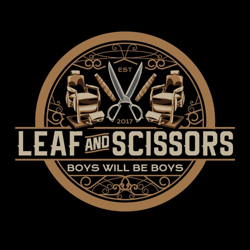 luxurious logo for cigar bar and a place for men