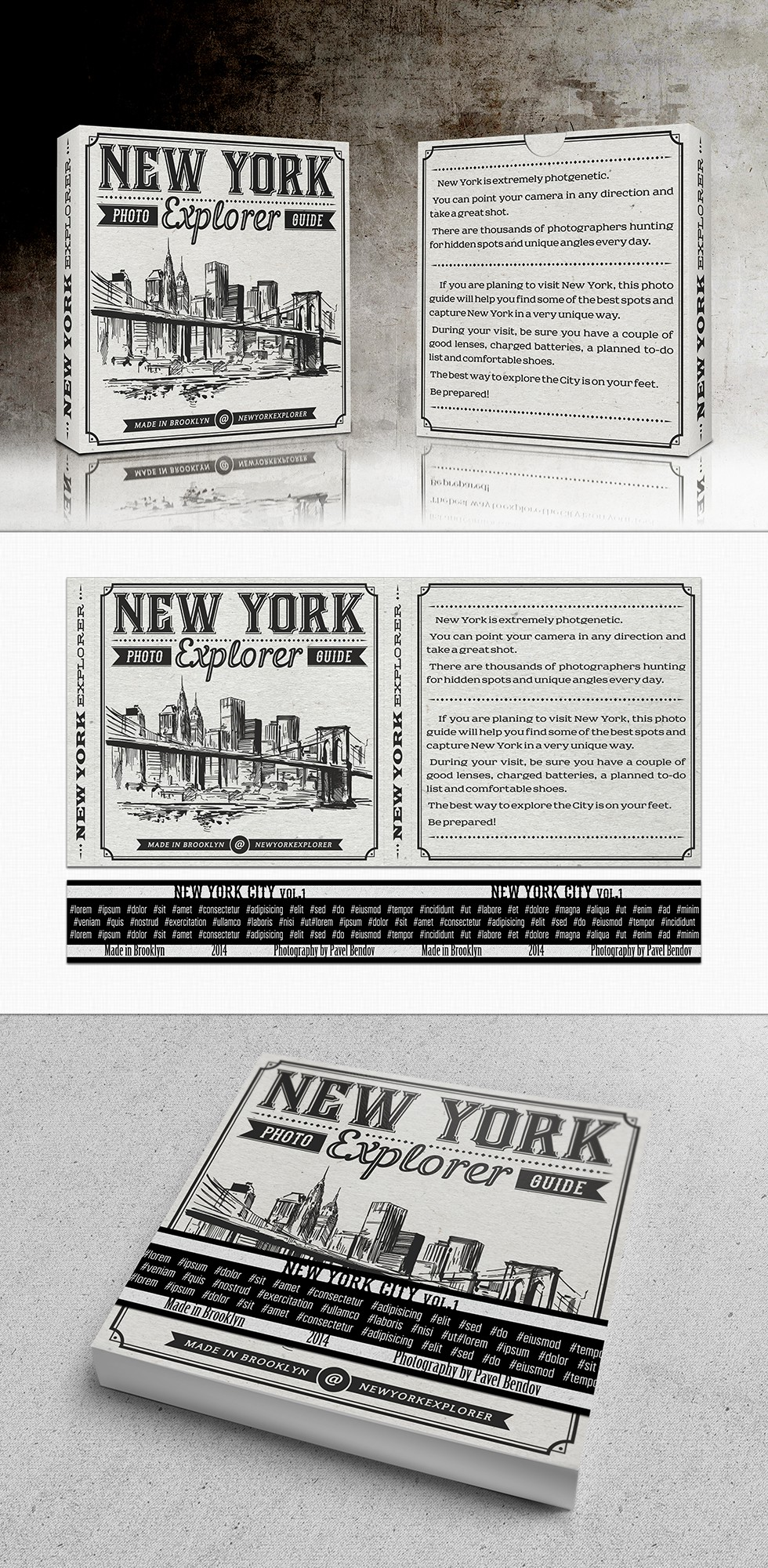 Create a package for photo guide about New York City.