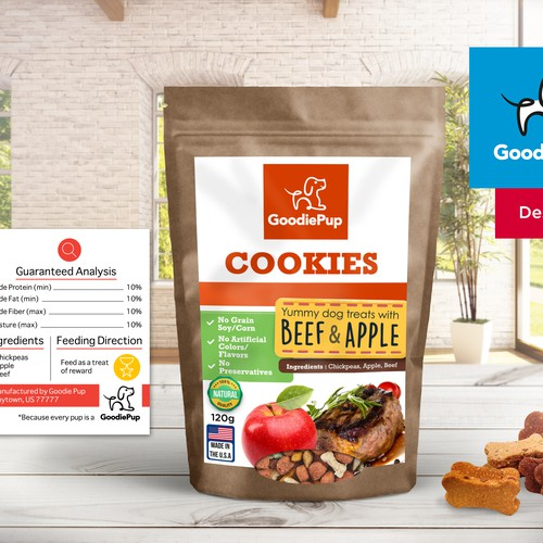 Goodie Pup Dog Food Packaging