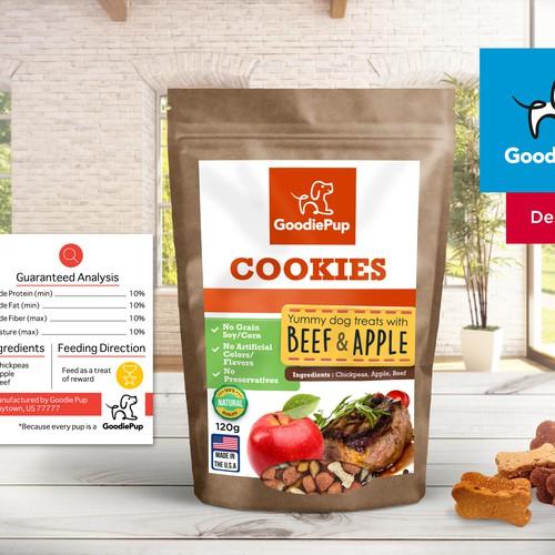 Goodie Pup Dog Food Packaging