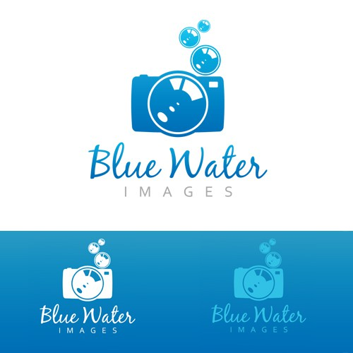 Stylish logo for underwater photographer (and watermark)!