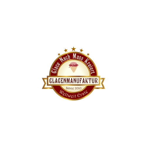 Create an Emblem for a gelatomanufactury we need it in german language