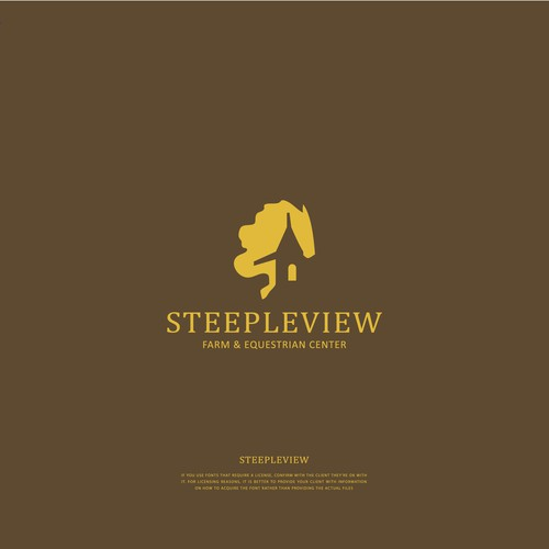 Logo concept For Steepleview Farm and Equestrian Center