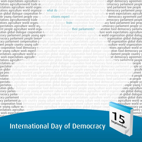 Poster for the International Day of Democracy