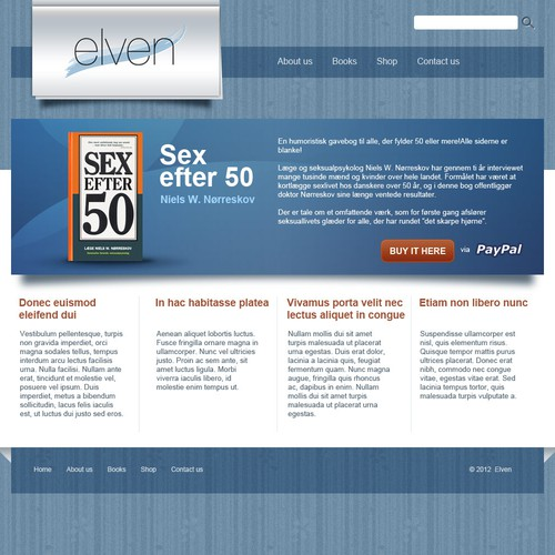 website design for Elven