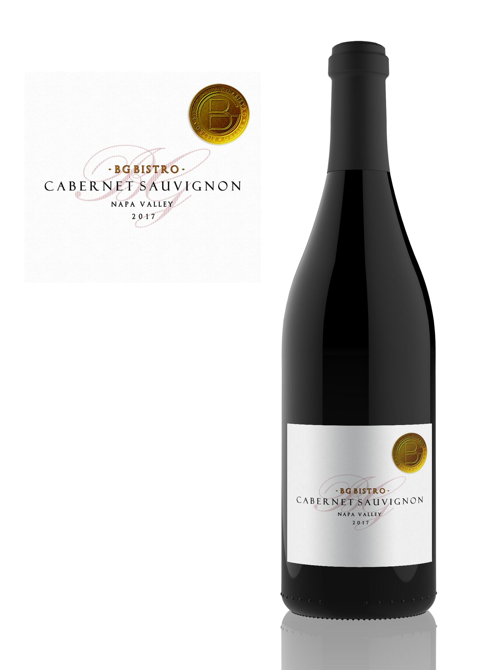 BG Bistro wine label