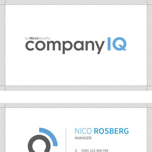 Business card for Compnay IQ