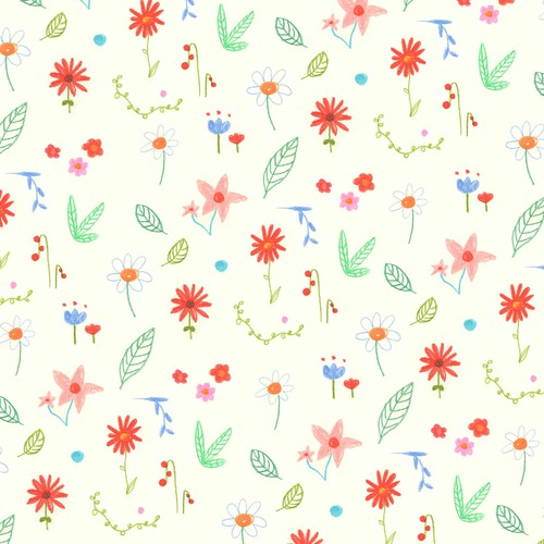Happy flower pattern