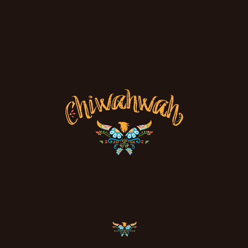 Elaborate and decorative logo for a Mexican themed restaurant and bar