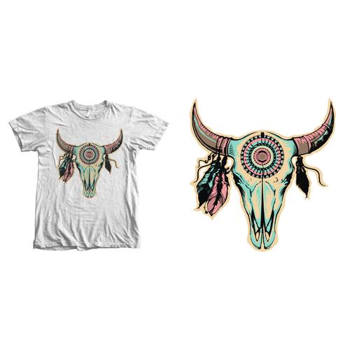 cowskull tee shirt design