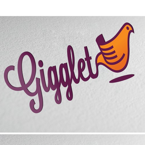 Create an Youthful, Energetic, Creative Logo for Gigglet - Custom Greeting Cards