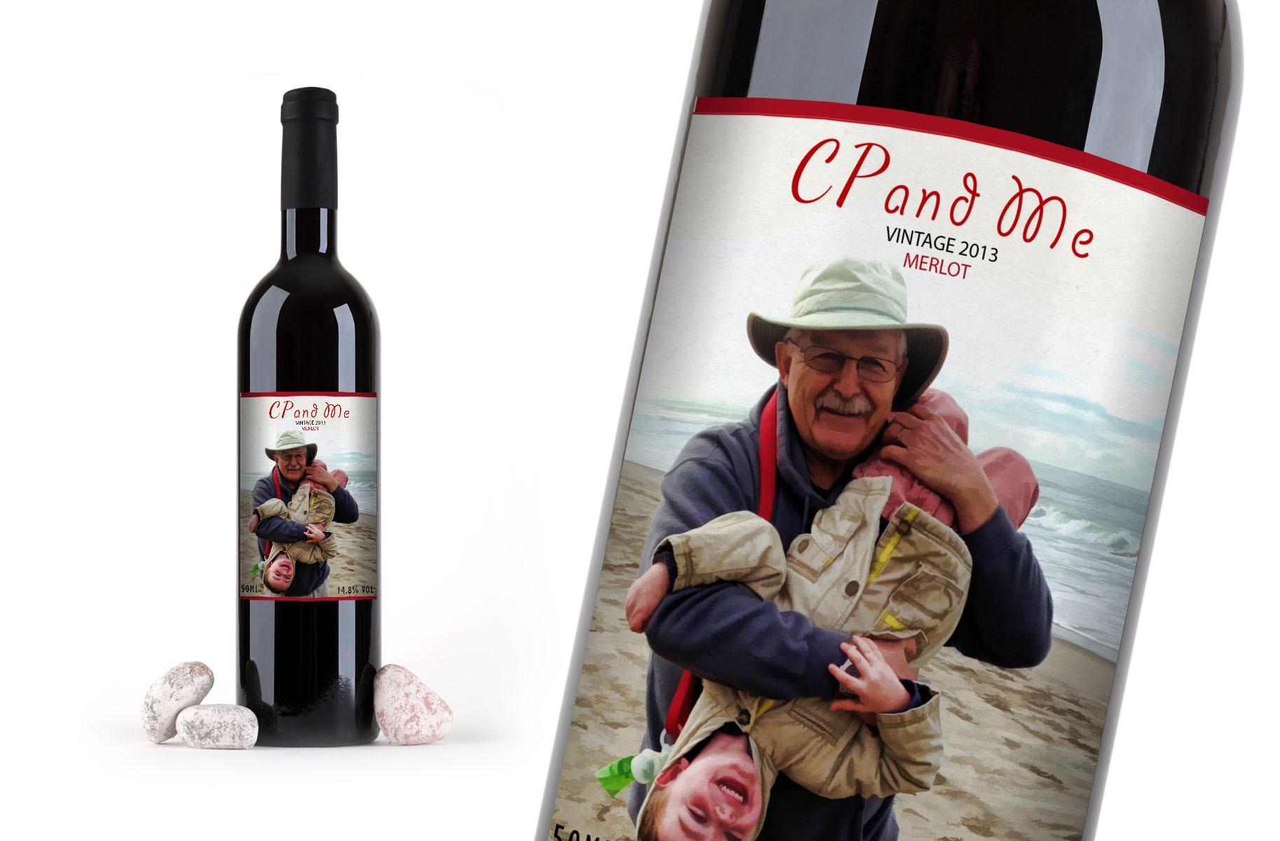 Creative Wine Bottle Label