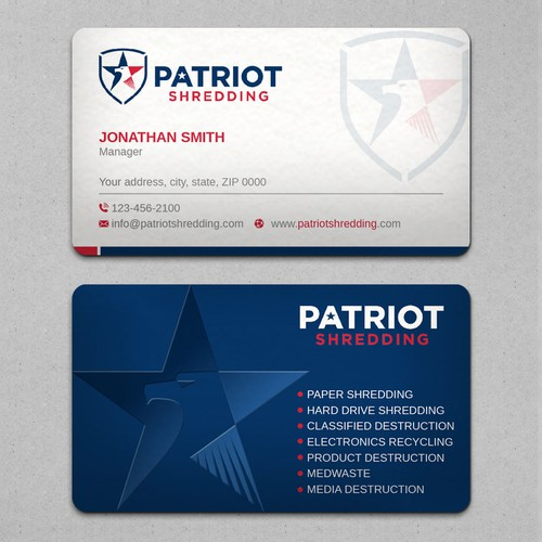 Business Card Design for company with new logo