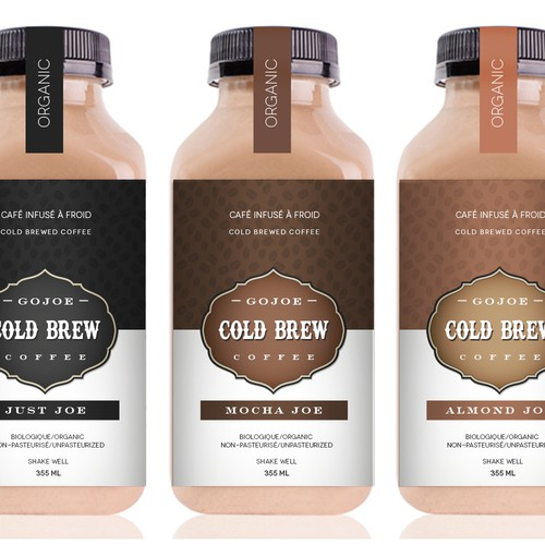 """Redesign the label for our Cold Brewed Coffee beverage line """"GoJoe"""""""