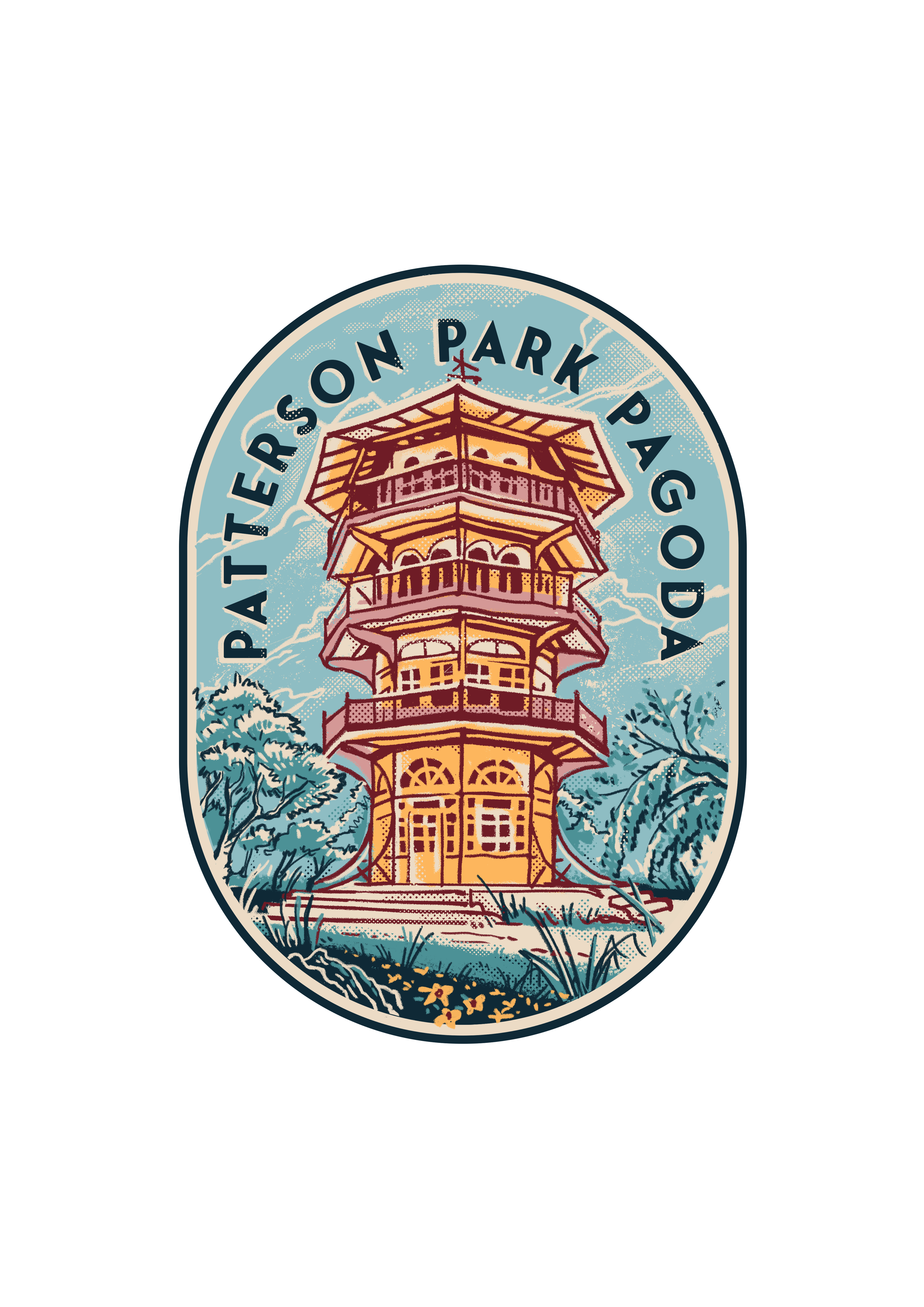 Patterson Park Pagoda Sticker Design!