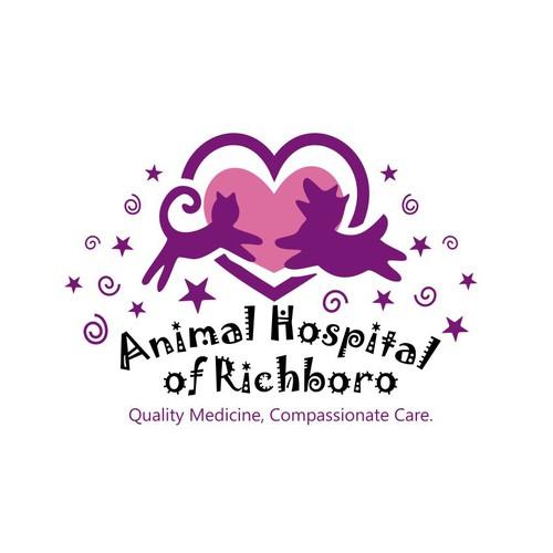 Create a fun whimsical design for animal hospital