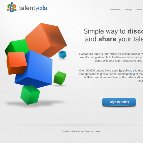 talent yoda needs a new website design