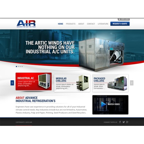 AIR Advance Industrial Refrigeration needs a new website design
