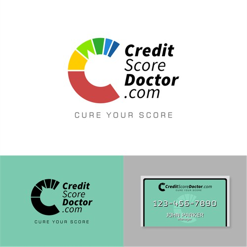 Logo and Business Card design concept for CreditScoreDoctor.com